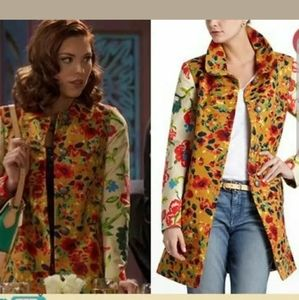 Anthro elevenses lepoardlilly floral jacket